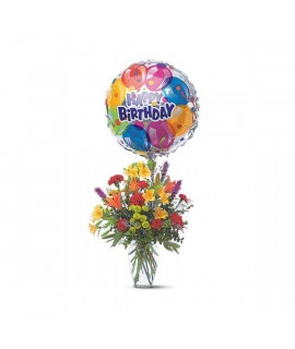 Mixed Bouquet with a Balloon
