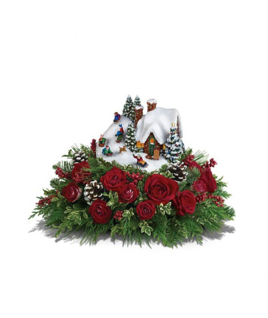 Thomas Kinkade's Sleigh Ride Bouquet by Teleflora