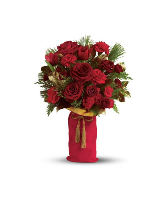 Teleflora's Holiday Wishes Bouquet