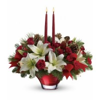 Crimson Glow Centerpiece